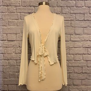 Urban Outfitters Ivory Verona Cardigan